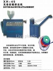 Plastic zipper machine