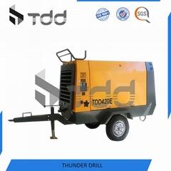 Motor Driven Portable Screw Compressor