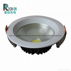 3寸7W白色斜邊LED筒燈