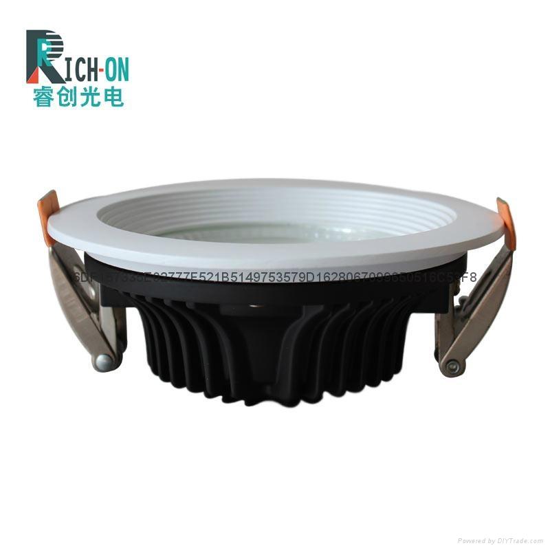 3寸7W白色斜邊LED筒燈 2