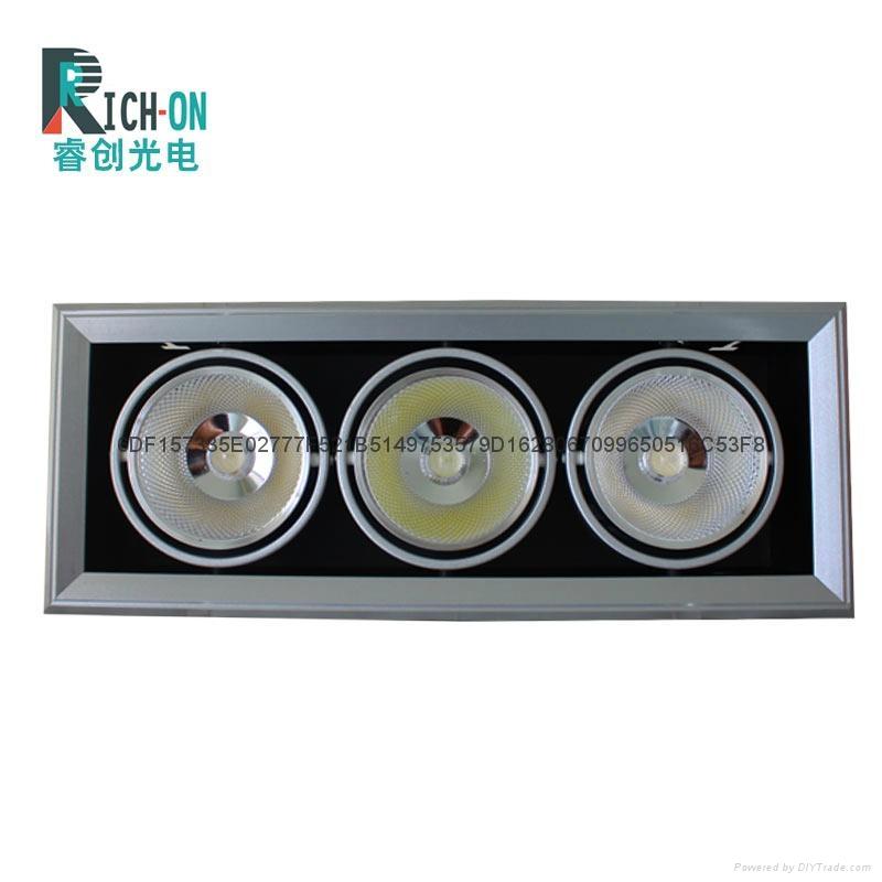 睿创AR90系列2头40W 银色斜边款LED豆胆射灯 3