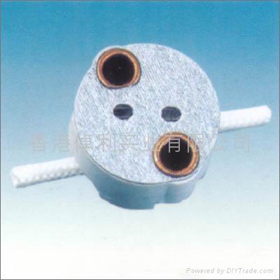 G4.0-G5.3-G6.35ceramic lamp holder in white color 4