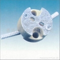 G5.3 Ceramic lamp holder / base in white