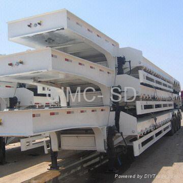 Low bed semi trailer