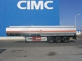 tank semi trailer, carton, steelless, aluminum alloy