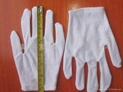 纯棉白色双面劳保手套