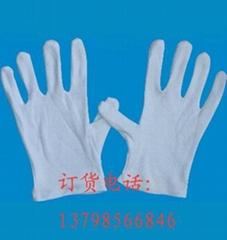 上海廠家直銷女士白色作業純棉手套
