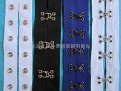 大衣领钩,领钩带,钩扣带,