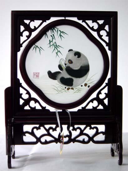 蜀繡竹葉熊貓 1