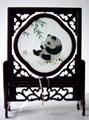 蜀绣竹叶熊猫