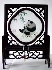蜀繡竹葉熊貓