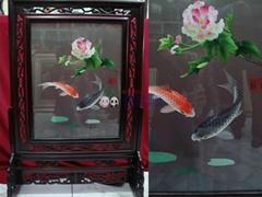 蜀芙蓉两鲤鱼图