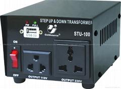 STU-100 交流昇降變壓器帶USB