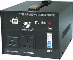 STU-1500 交流昇降變壓器帶5V USB