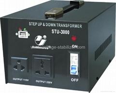 STU-3000 STEP UP/ DOWN VOLTAGE TRANSFORMER WITH 5V USB