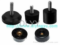 rubber foot with bolt or nut