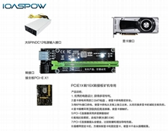 PCIE 1X轉16X轉接卡延