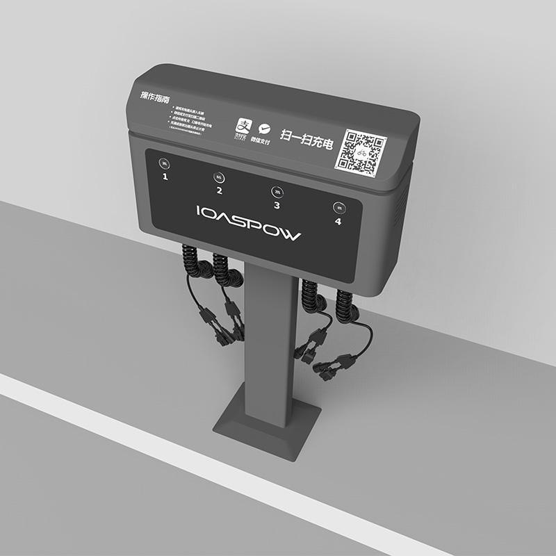 4路直流電瓶車電動自行車共享充電樁 3