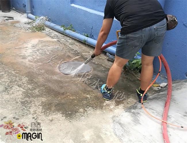 環保除鏽高壓水噴砂機 2
