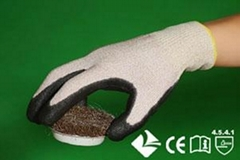 Spectra plus Glass fiber knitting gloves with Polyurethane coated