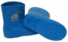 中童靴(藍)_彩色儿童雨靴