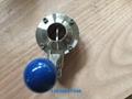 美标德标3A SMS DIN卫生级焊接蝶阀和止回阀 1