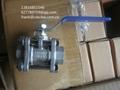 不锈钢片式螺纹球阀1000WOG Y型螺纹过滤器800lb 3