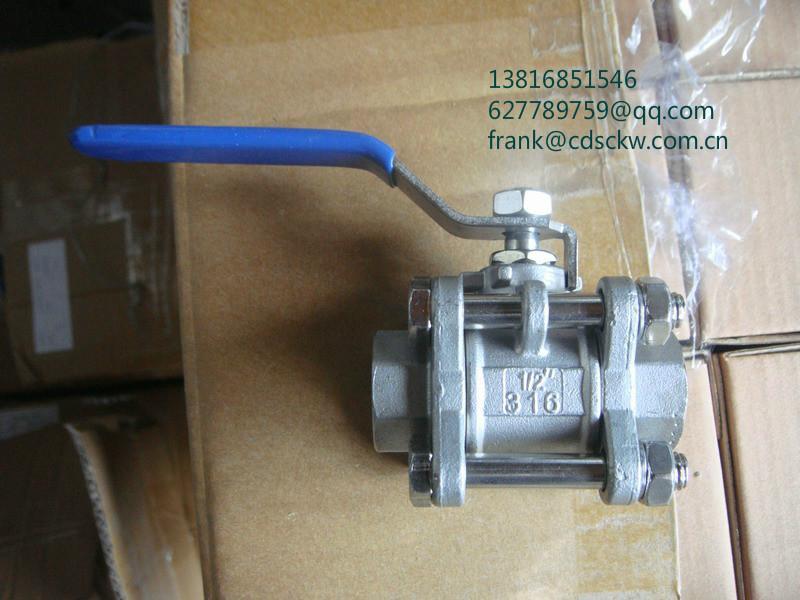 不锈钢片式螺纹球阀1000WOG Y型螺纹过滤器800lb 4