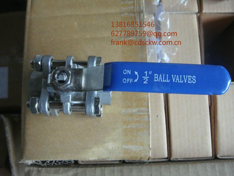 不锈钢片式螺纹球阀1000WOG Y型螺纹过滤器800lb 5