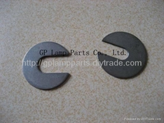 slotted washers, lampshade C shaped