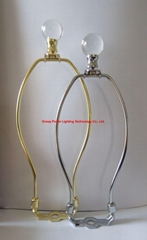 lamp harp with crystal lamp finials sets