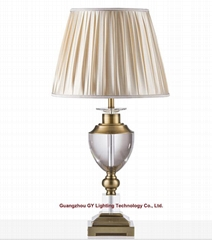 modern crystal table lamp, hotel guestroom table lamp, living room table lamp