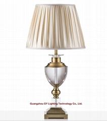 modern crystal table lamp, hotel guestroom table lamp, living room table lamp
