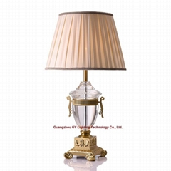 modern crystal table lamp, hotel guest room table lamp, living room table lamp