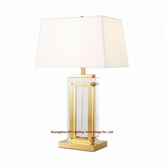 new design of crystal table lamp for hotel, living room, bedroom and casino