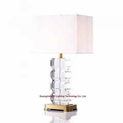 luxurious crystal table lamp for hotel, living room, bedroom and casino