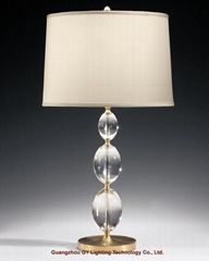 crystal table lamp, hotel table lamp, bedroom table lamp, villa table lamps