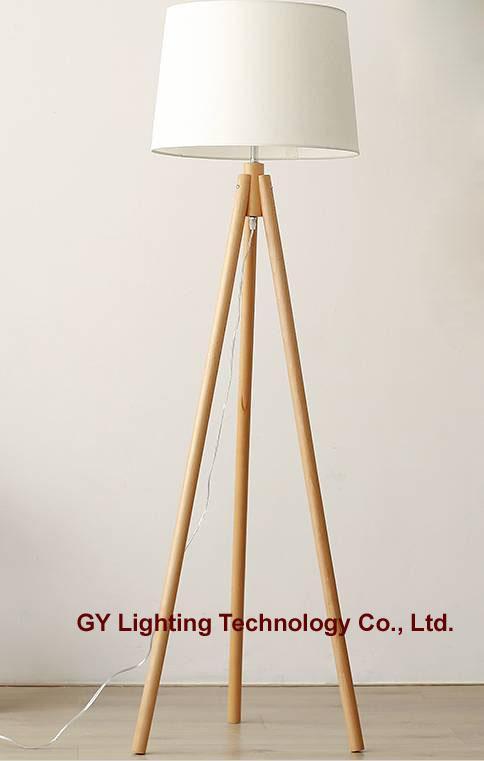 beech wood floor lamp, standing lamps for hotel, villa, living room 1