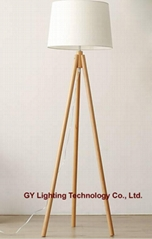 beech wood floor lamp, standing lamps for hotel, villa, living room