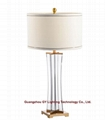 new crystal table lamp, hotel guest room