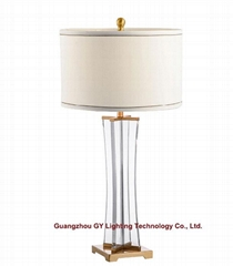 new crystal table lamp, hotel guest room table lamp, living room table lamps