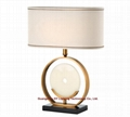 modern marble table lamp for hotel,