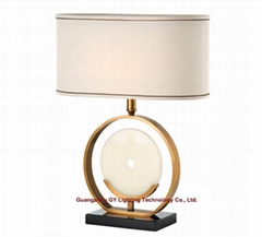 modern marble table lamp for hotel, office, KTV, Casino, sitting rooms