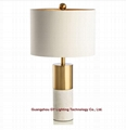 new marble table lamp for hotel, office, KTV, Casino, sitting rooms
