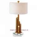designer table lamp in crystal, crystal