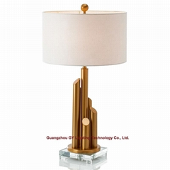designer table lamp in crystal, crystal table lamp for hotel, living room, lobby