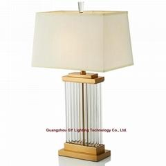 new design of glass table lamp for hotel, living room, bedroom and casino