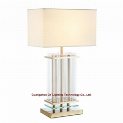 glass table lamps for hotel, casino, living room, bedside, lobby