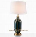 custom porcelain table lamp, ceramic