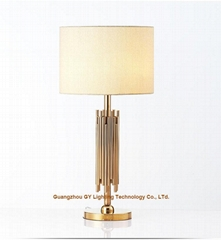 metal table lamps, contemporary table lamps for hotels, inns, hospitality, lobby